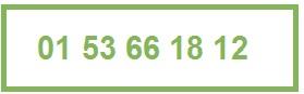 numero de telephone