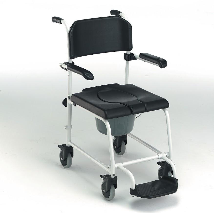 chaise de douche roulettes invacare orvimed mat riel. Black Bedroom Furniture Sets. Home Design Ideas